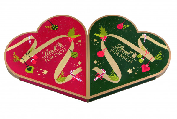"""Lindt couple advent calendar """"for you & for me"""" 505g"""