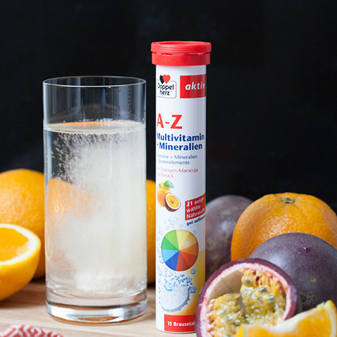 Double heart A-Z effervescent tablets