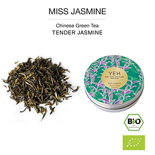 """Miss Jasmine"", 30g tin of Chinese green tea flavoured with jasmine"