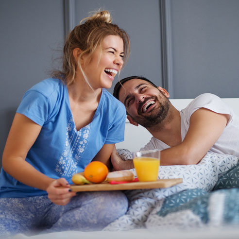 Double Heart Good Mood Breakfast