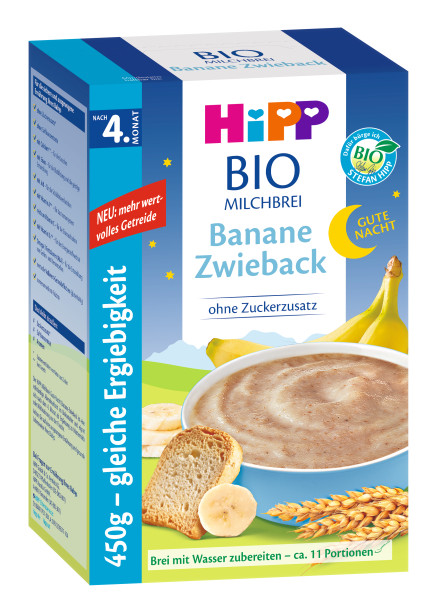 Hipp bedtime porridge banana zwieback after the 4th month, 450g