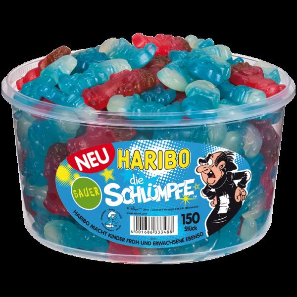 Haribo Schlümpfe Sauer Dose 150St. 1,3KG