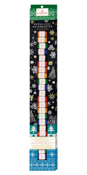 Calendario de Adviento de Niederegger mazapán palo azul, 300g
