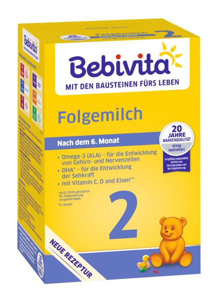 Bebivita 2 follow-on milk after 6 months, 500g