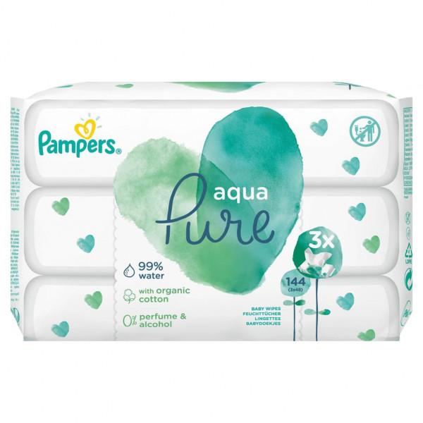 帮宝适湿巾Aqua,3x48湿巾