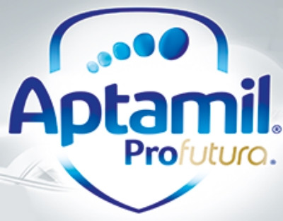 Embalaje con el logotipo de Aptamil Profutura
