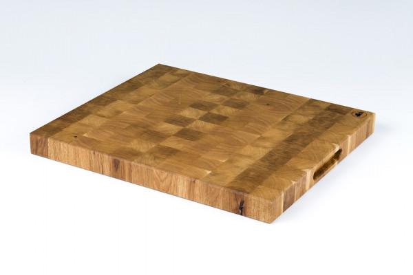 德国Spessartbrett 天然手工切块图案橡木抗菌家用厨房砧板切菜板 450mmX500mm,厚400mm