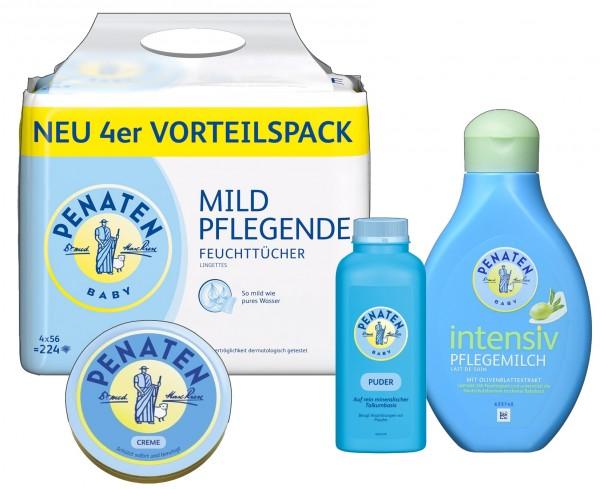 Penaten Pflegeset Puder Creme Feuchttücher & Intensivmilch