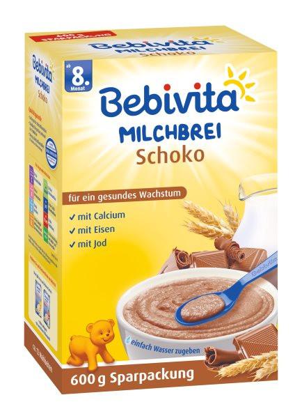 Bebivita Milchbrei Schoko ab dem 8. Monat, 600g