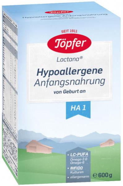 Potter Lactana HA1, alimento inicial hipoalergénico desde el nacimiento, 600g