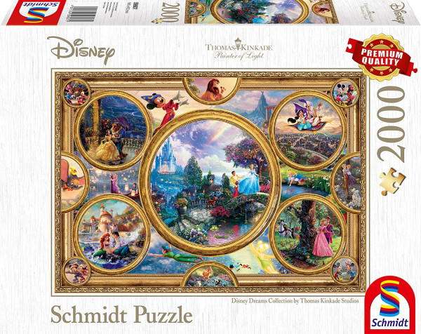 "Rompecabezas Schmidt Premium ""Disney Dreams Collection"", 2000 piezas"