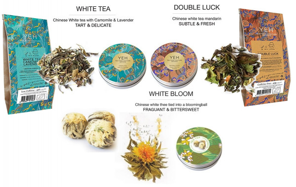 White tea special from Yeah Tea 170g, with 3 different blends + 2x45g refill pack