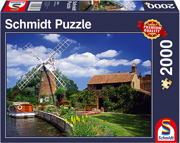 "Premium Schmidt Puzzle ""On the way with the houseboat"", 2000 pieces"