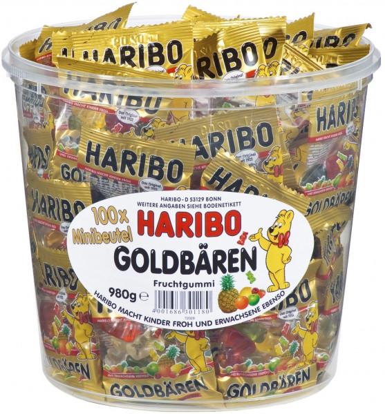 Haribo; Goldbären; Dose; 100; Mini; Tüten;