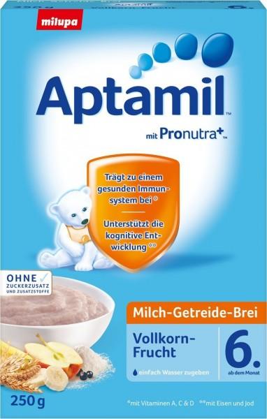 Aptamil; Milch-Getreide-Brei; Vollkorn; Frucht; ab 6.; Monat;