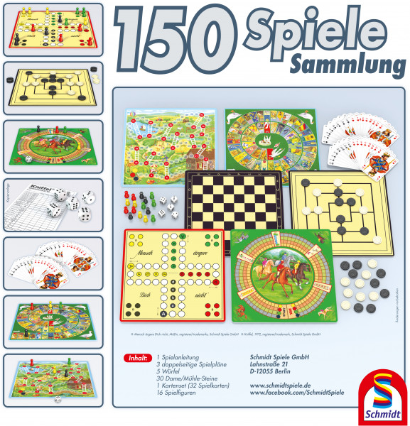 Schmidt games game collection 150 options de jeu