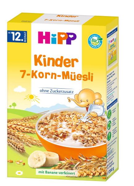 Hipp Kinder Bio 7-Korn-Müsli mit Banane verfeinert, 200g