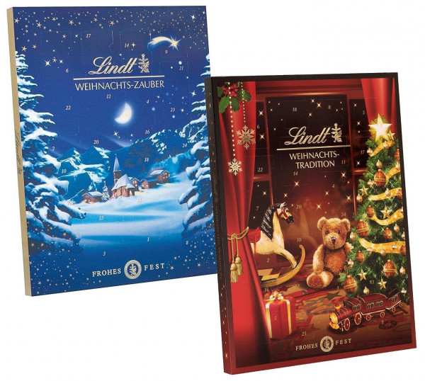 Double pack: Lindt Christmas Magic Advent Calendar and Lindt Christmas Tradition Advent Calendar