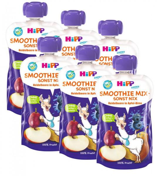 Hipp Bio Luis Lama Smoothie Mix Heidelbeere in Apfel-Birne 6x120ml