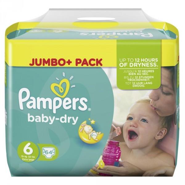 Pampers BabyDry Größe 6 (Extra Large)
