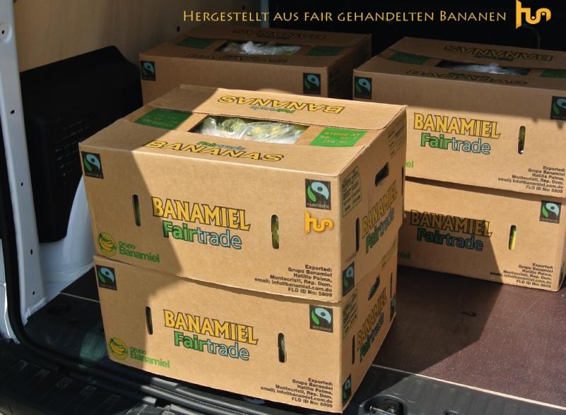 Fair gehandelte Bananen Anlieferung