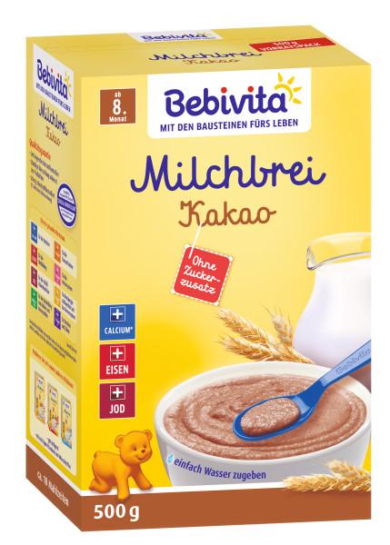 Bebivita Milchbrei Kakao ab dem 8. Monat, 500g