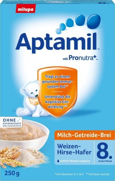 Aptamil; Milch; Getreide; Brei; Weizen; Hirse; Hafer; 8.; Monat