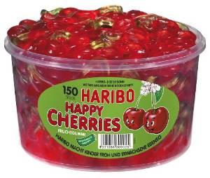 Haribo Happy Cherries tin 150 pieces, 1,2kg