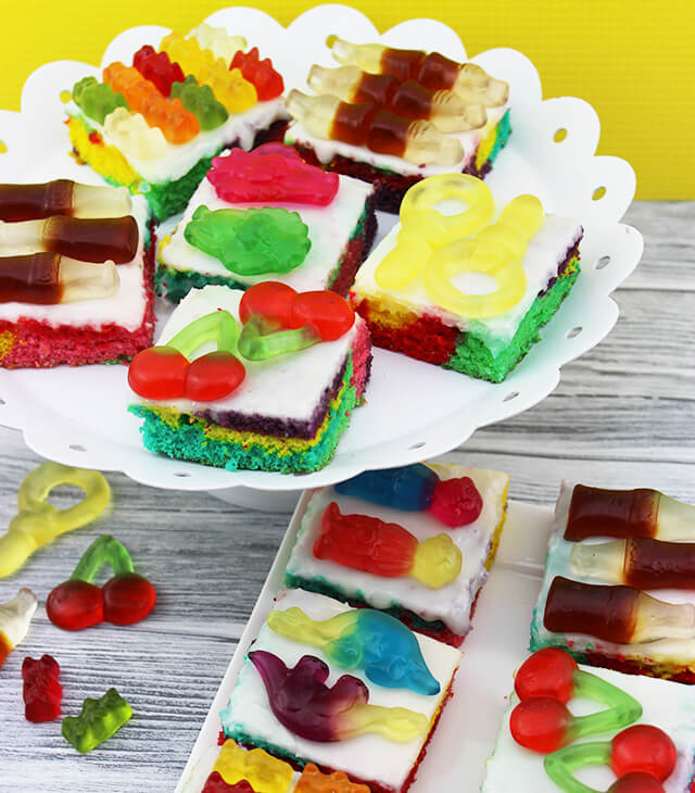 Haribo Regenbogenkuchen
