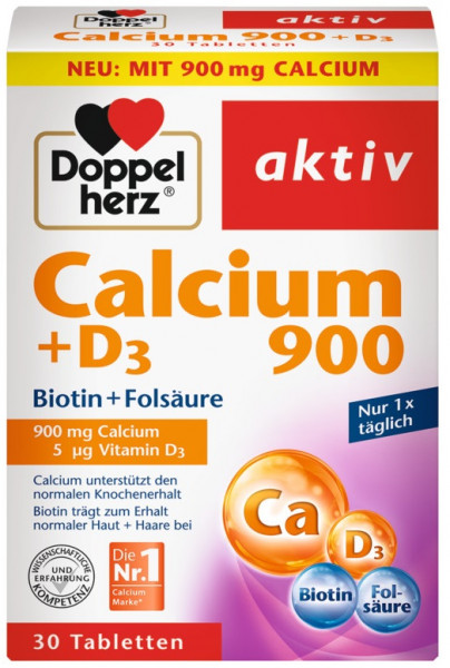 Double heart calcium 750 + D3, 30 tablets