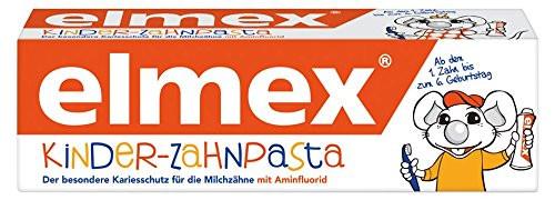 Elmex Kinder-Zahnpasta ab dem 1. Zahn bis zum 6. Geburtstag, 50ml