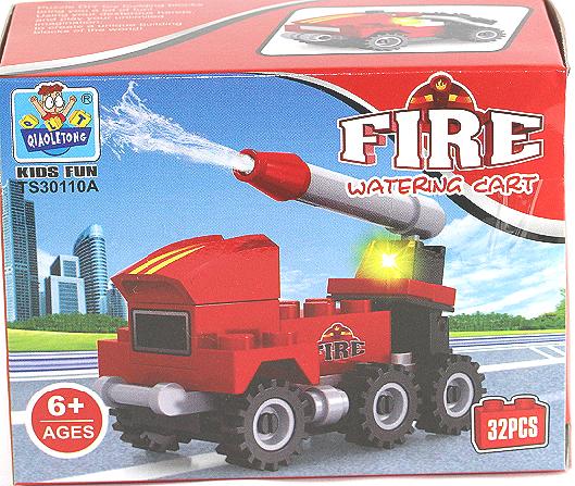 快乐拼装块,益智启蒙,拼砌创意紧急救援主题救火车救护车救生机救生艇任意选择 6岁以上儿童