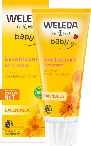 Crema facial de caléndula para bebés Weleda 50ml