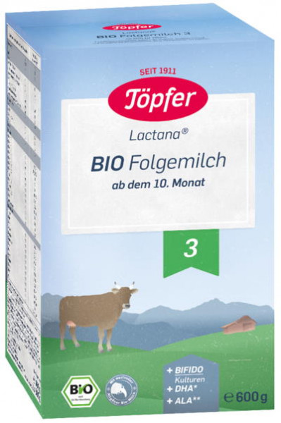 Töpfer 特福芬 Lactana 3段有机后续奶粉 从10个月起,600克