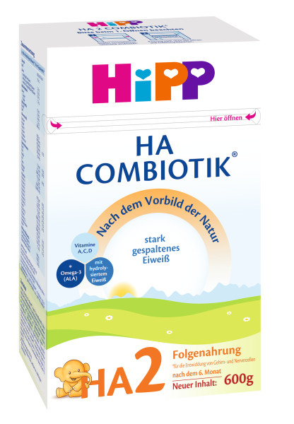 Hipp HA2 Combiotik Hypoallergenic follow-on milk after 6 months, 600g