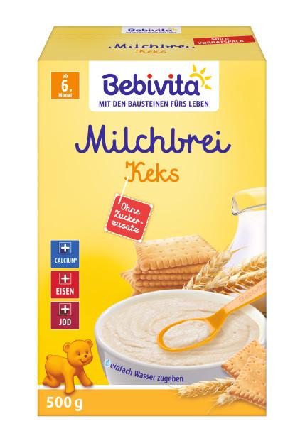 Biscuit de bouillie de lait Bebivita à partir du 6ème mois, 500g