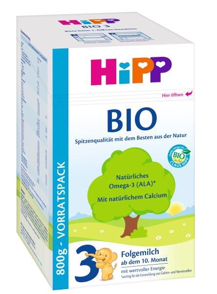 Hipp Bio 3 Folgemilch ab dem 10. Monat, 800g