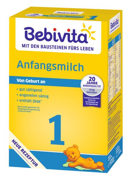 Leche de fórmula Bebivita 1, desde el nacimiento, 500g
