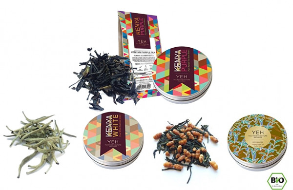 Luxury tea special from Yeah Tea 180g, with 3 different blends + 1x refill bag
