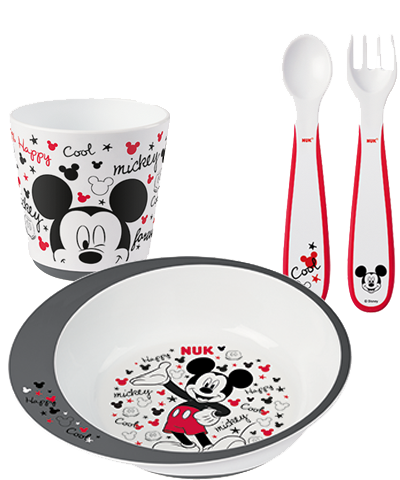 "NUK Disney ""Mickey"" Gift Box for Eating Lessons"