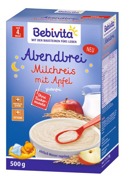 Arroz con leche de avena con manzana Bebivita, después del 4º mes, 500g