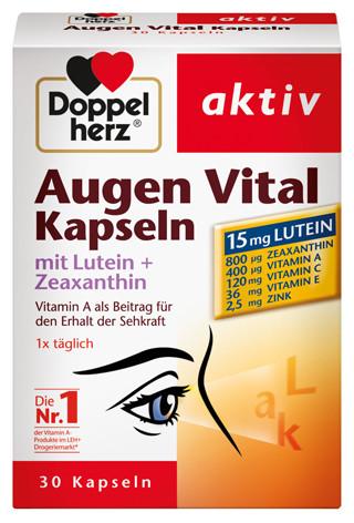 Doppelherz; Augen Vital; 30 Kapseln; Nahrungsergänzung; Augen