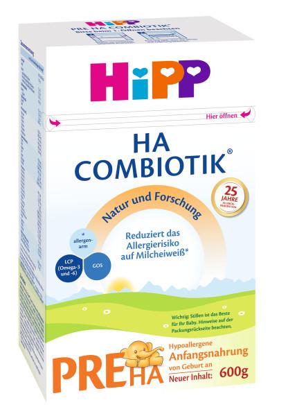 Hipp HA PRE Combiotik Hypoallergene Anfangsmilch von Geburt an, 600g