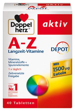 Doppelherz; A-Z Depot; Nahrungsergänzungen; 40 Tabletten