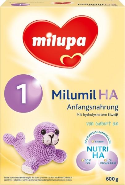 Milumil HA 1 Hypoallergene Anfangsmilch, 600g MHD 11.10.2018