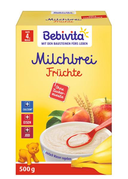 Bebivita bouillie de lait aux fruits après le 4ème mois, 500g