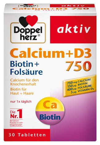 Doppelherz; Calcium 750; D3; 30 Tabletten