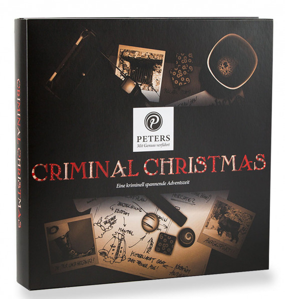 """Advent calendar Criminal Christmas with book """"The conspiracy"""" - content 255g"""