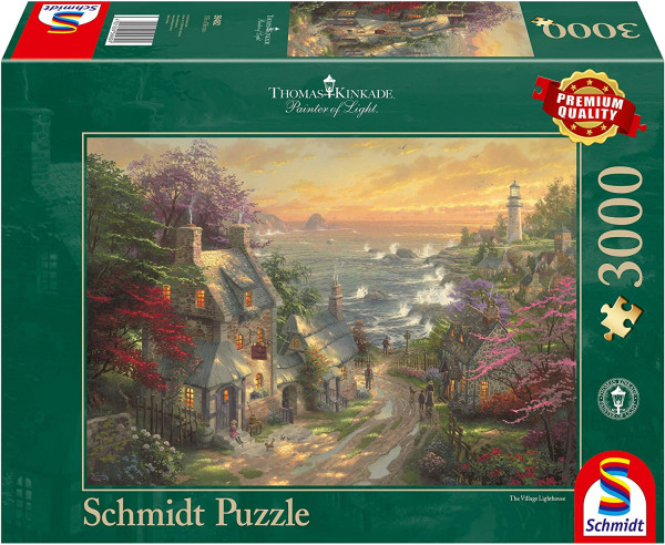 "Premium Schmidt puzzle ""Village at the lighthouse"", 3000 pieces"