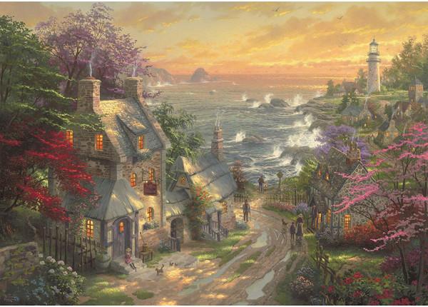 """Puzzle Premium Schmidt """"Village au phare"""", 3000 pièces"""